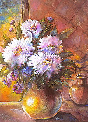 Painting - Italian Mums In Gold by Patricia Schneider Mitchell