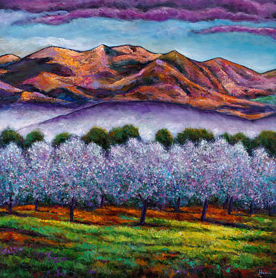 Wildflowers Painting - Italian Orchard by Johnathan Harris