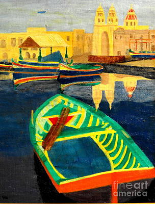 Painting - Italian Port by Larry Farris