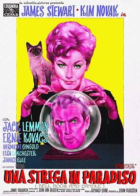 Kim Novak Photograph - Italian Poster Of Bell Book And Candle by Art Cinema Gallery