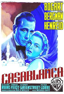 Claude Mixed Media - Italian Poster Of Casablanca by Art Cinema Gallery