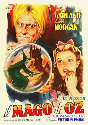 Billboard Mixed Media - Italian Poster Of The Wizard Of Oz by Art Cinema Gallery