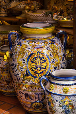 Photograph - Italian Pottery by Michele Steffey