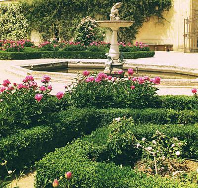 Pink Rose Photograph - Italian Renaissance Style Garden by Cimorene Photography