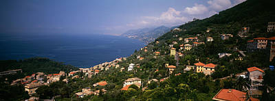 Italy Rooftops Photograph - Italian Riviera Italy by Panoramic Images