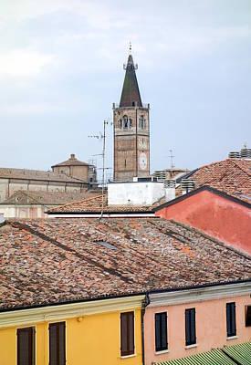 Italian Roofs Art Print by Valentino Visentini