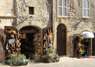 Italian Shops Art Print by Crow River North Photography