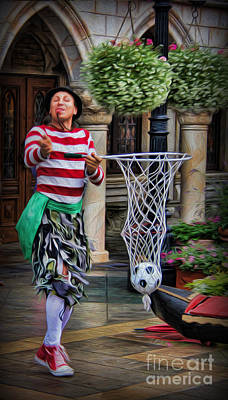 Photograph - Italian Street Performer by Lee Dos Santos