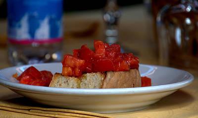 Photograph - Italian Toast Bruschetta by Caroline Stella