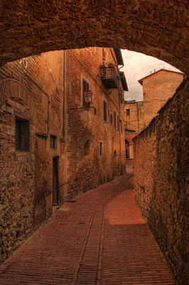 Photograph - Italian Town Arched Walkway by Bob Coates