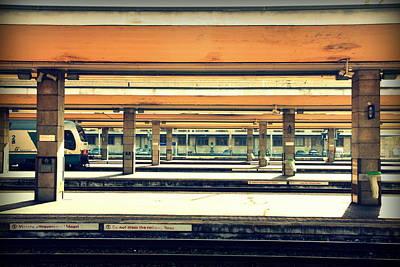 Italian Train Station Art Print