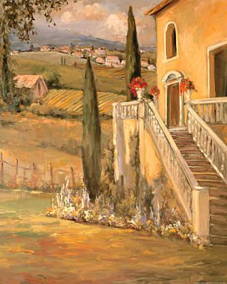 Italy Farmhouse Painting - Italian Villa 2 by Allayn Stevens