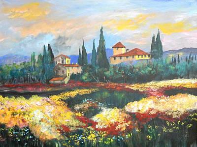 Italian Villa  Original by Anna Sandhu Ray