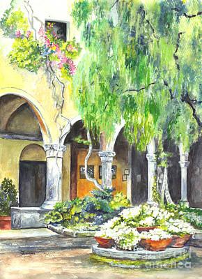 Villa Painting - The Italian Villa by Carol Wisniewski