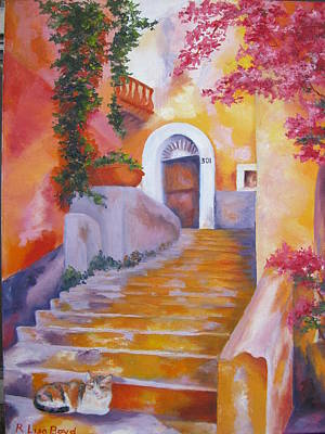 Painting - Italian Village Staircase by Lisa Boyd