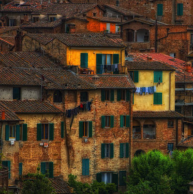 Italian Village View Art Print