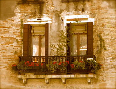 Italian Windowbox 3 Art Print