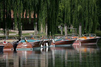 Priceless Photograph - Riva Wooden Runabouts by Steven Lapkin