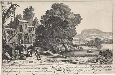 Italianate Landscape Afternoon, Jan Van De Velde II Art Print by Jan Van De Velde (ii)
