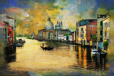 Cities Seen Painting - Italy 01 by Catf