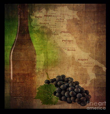 Digital Art - Italy And Wine by Melissa Messick