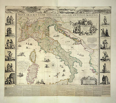 Cartography Photograph - Italy by British Library