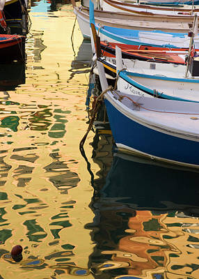 Italy, Camogli Boats And Buildings Form Art Print