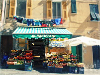 Italy Cinqueterre Store Front Art Print by Sylvia Cook
