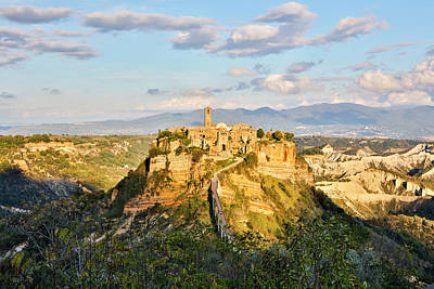 Italy, Civita, A View Of The City Art Print