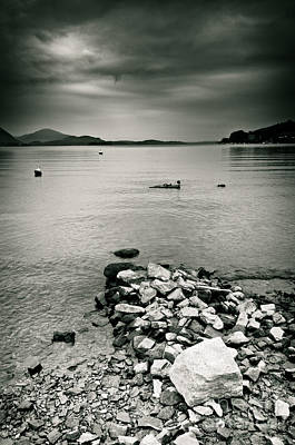 Photograph - Italy Lake Maggiore Moody View by Silvia Ganora