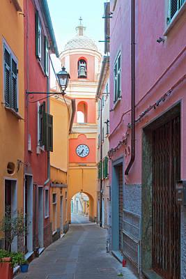 Serra Photograph - Italy Liguria La Spezia - Village La by Panoramic Images