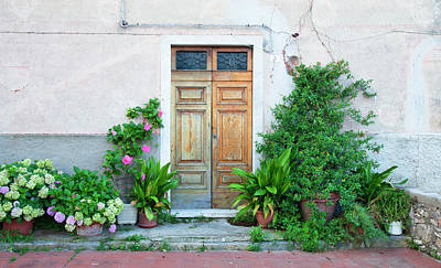 Italy Liguria - Village La Serra - Door Art Print