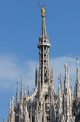 The Spire Of Milan Cathedral Art Print