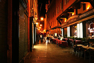 Photograph - Italy Night City Scene by Maggie Vlazny