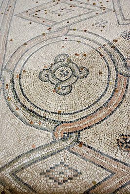 Mosaic Photograph - Italy, Ravenna Mosaic Floor With Coin by Jaynes Gallery
