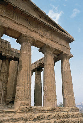 Italy. Sicily. Agrigento. Valley Of The Temples. Temple Of Concordia. 5th Century Bc Art Print