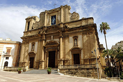 Italy, Sicily, Sciacca, Basilica Di Print by Tips Images