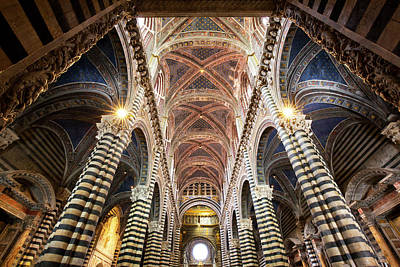 Sienna Italy Photograph - Italy, Sienna Interior Of Sienna by Jaynes Gallery