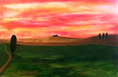 Tuscan Hills Painting - Italy by Thomas Chasm