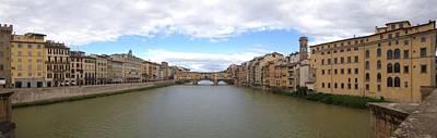 Ben Weinberg Photograph - Italy Tuscany - Florence Ponte Vecchio Panorama 1 by Benjamin Weinberg