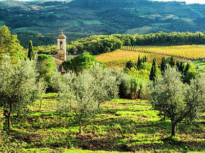 Chianti Hills Photograph - Italy, Tuscany, Pieve Di Santa Maria by Terry Eggers