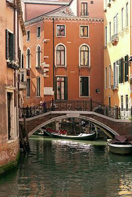 Italy, Venice A Small Bridge Art Print