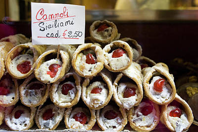 Italy, Venice Cannoli For Sale Seen Art Print by Jaynes Gallery