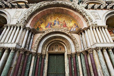 Italy, Venice Detail Of The Carvings Art Print by Jaynes Gallery