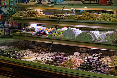 Food Stores Photograph - Italy, Venice Glass Display Case Filled by Jaynes Gallery