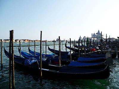 Italy Venice Gondolas Art Print by Irina Sztukowski