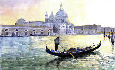 Watercolor Wall Art - Painting - Italy Venice Morning by Yuriy Shevchuk