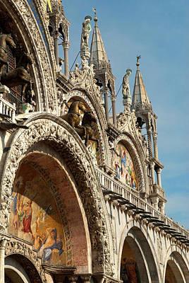 Italy, Venice Saint Mark's Basilica Print by David Noyes