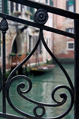 Italy, Venice Stair Railing Metalwork Print by Jaynes Gallery