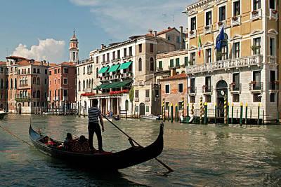 Italy, Venice Tourists Ride Art Print